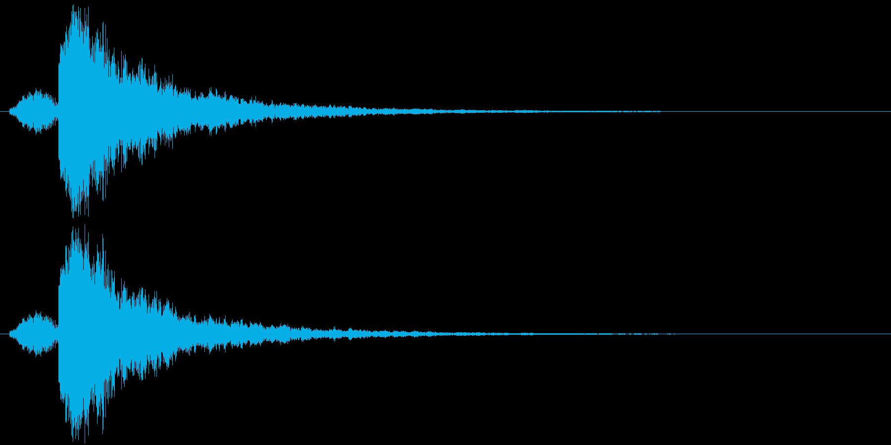 シャキーン 衝撃 金属音 定番の再生済みの波形