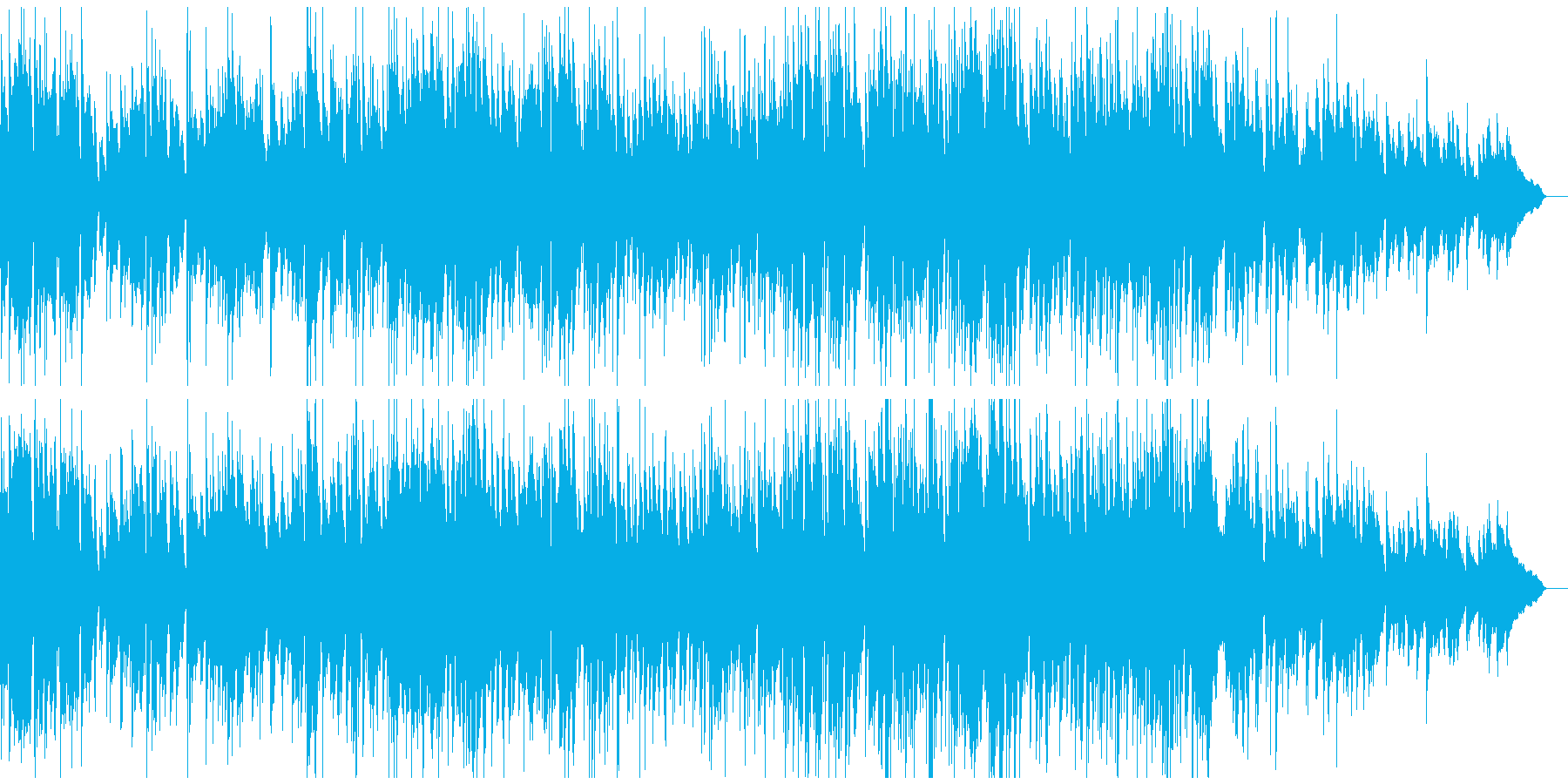素敵なおしゃれ感のミディアムテンポジャズの再生済みの波形