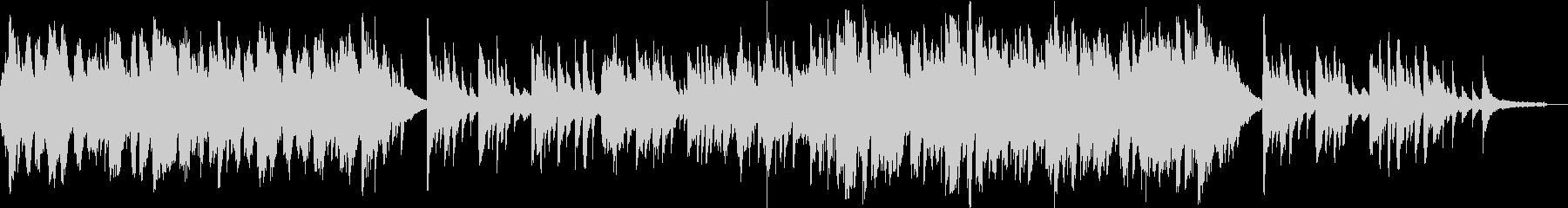 二胡と琴、ピアノのしっとりと切ないBGMの未再生の波形