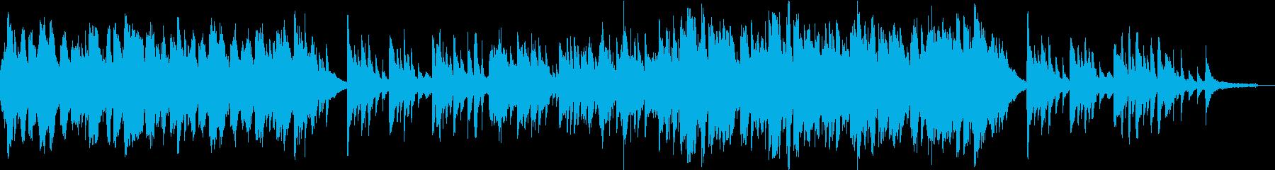 二胡と琴、ピアノのしっとりと切ないBGMの再生済みの波形