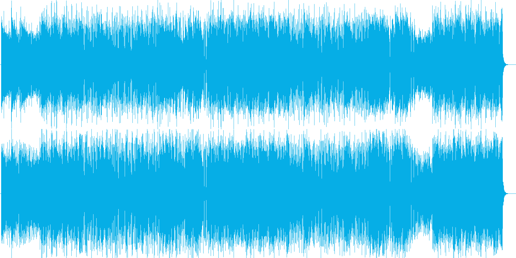 元気でハッピーなシンセサイザーポップの再生済みの波形
