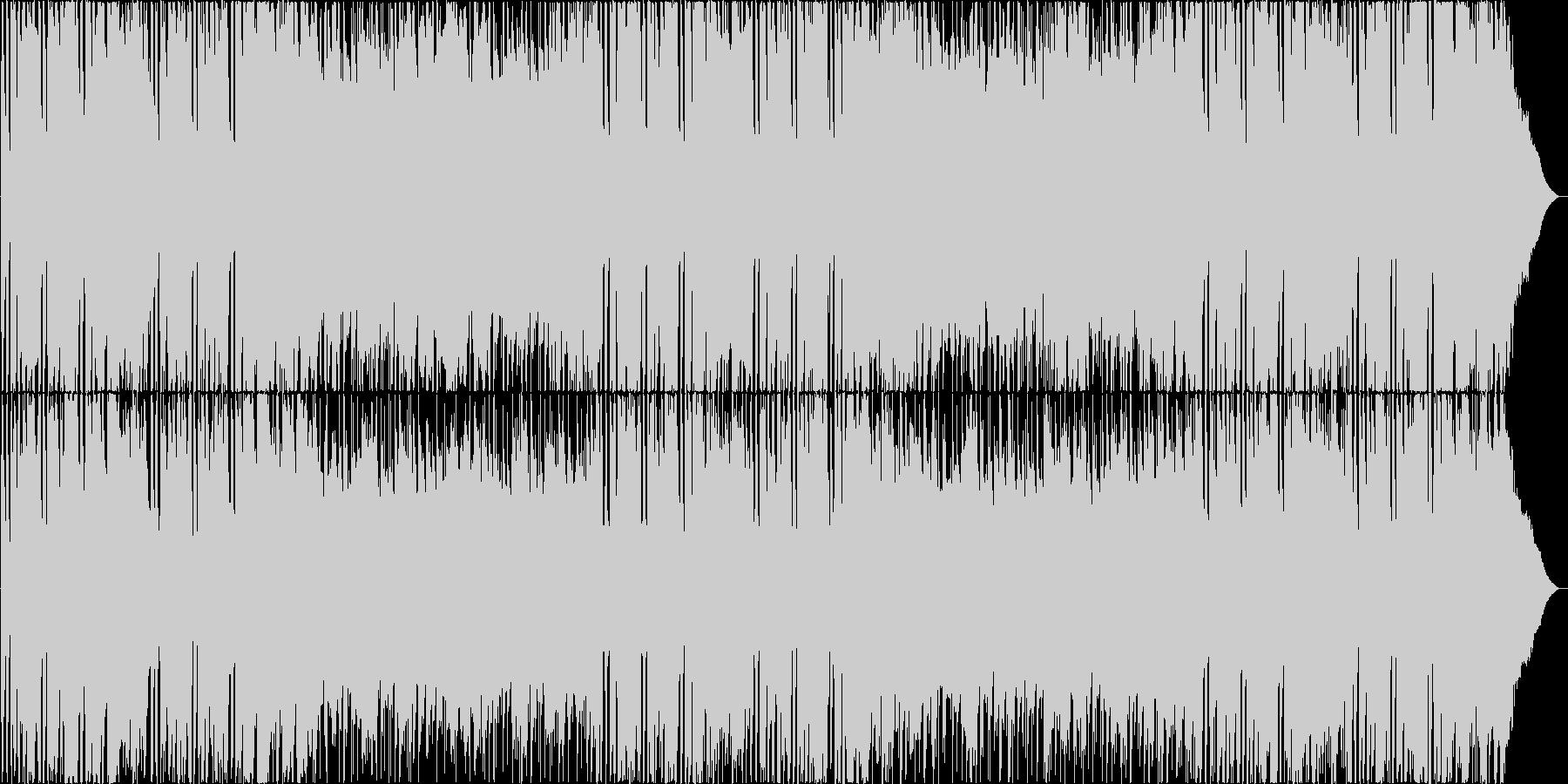 ギターメロディが印象的なBGMの未再生の波形