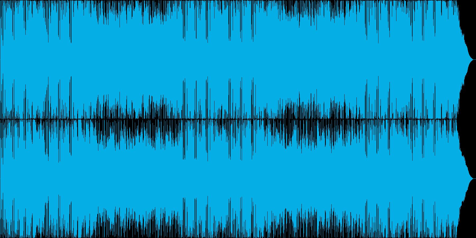 ギターメロディが印象的なBGMの再生済みの波形