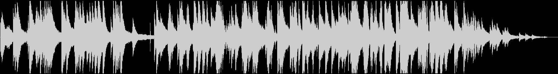 レコード風 レトロなピアノジャズの未再生の波形