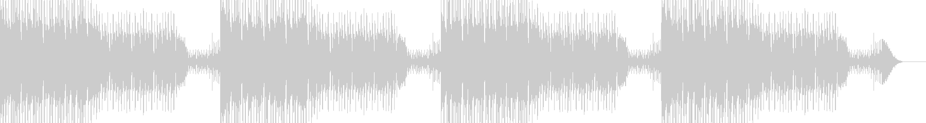 ダークでクールなEDMの未再生の波形