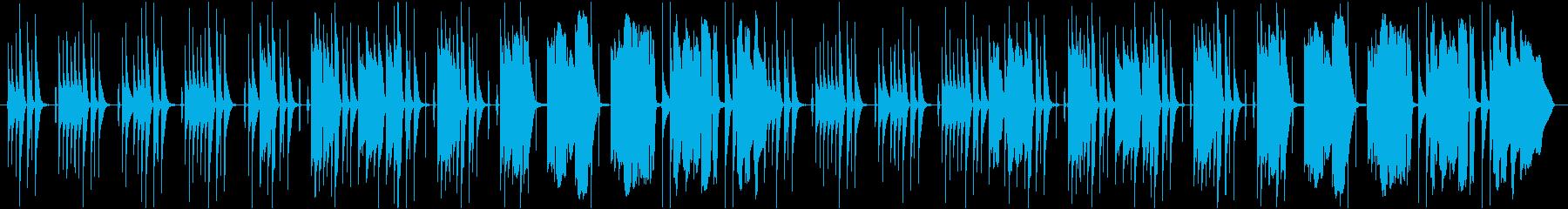 平和で日常的な会話で流れている曲の再生済みの波形