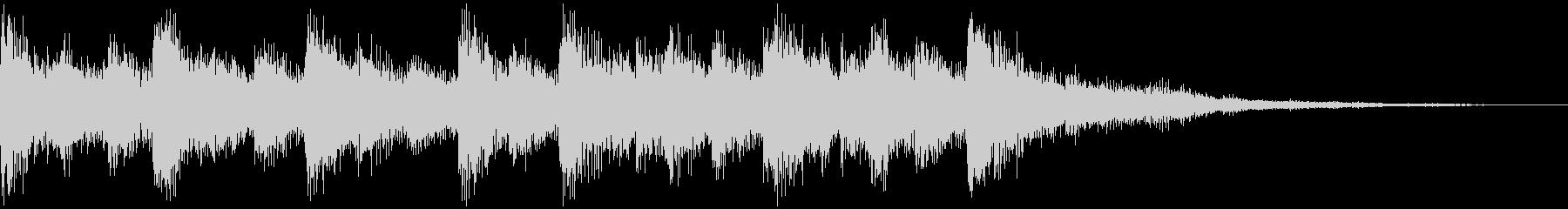 オーケストラのシリアスなジングルの未再生の波形