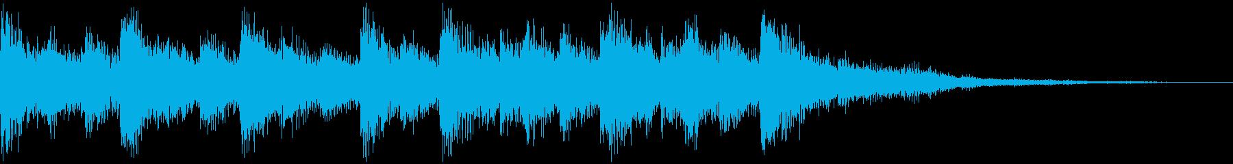 オーケストラのシリアスなジングルの再生済みの波形