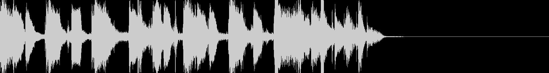 ファンクなファンファーレの未再生の波形