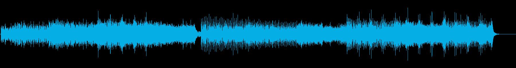 太鼓とシンセのアジアンなEDMエピック風の再生済みの波形