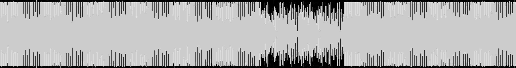 緊迫感・サスペンス・重低音ループBGMの未再生の波形