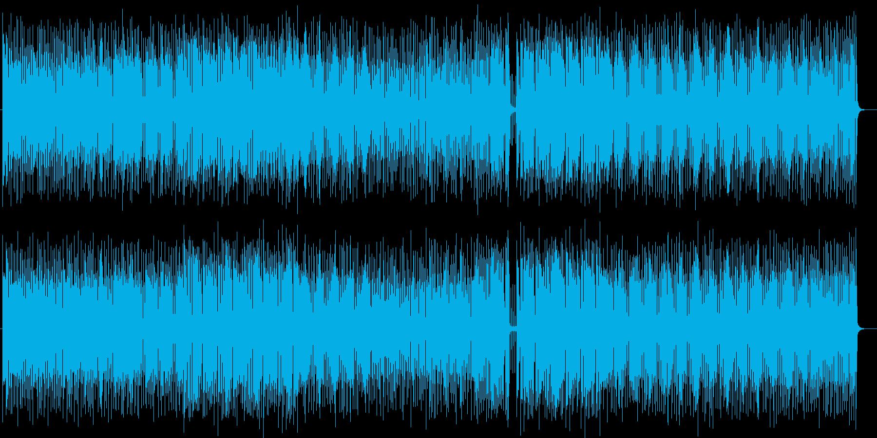 アップテンポで勢いのあるミュージックの再生済みの波形