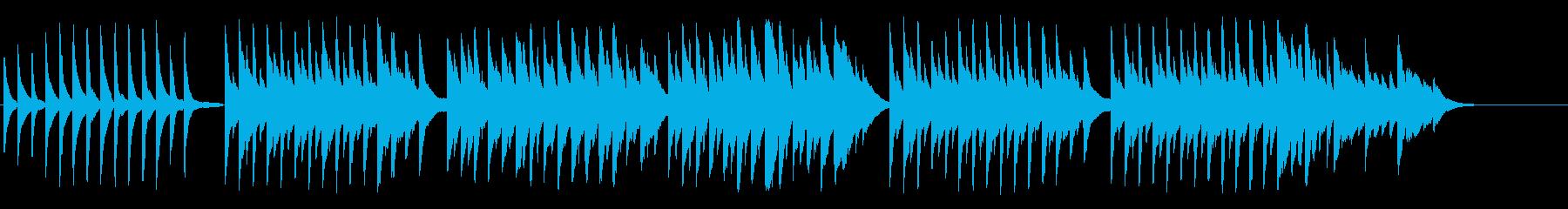 ピアノとハープの優しく温かいBGMの再生済みの波形