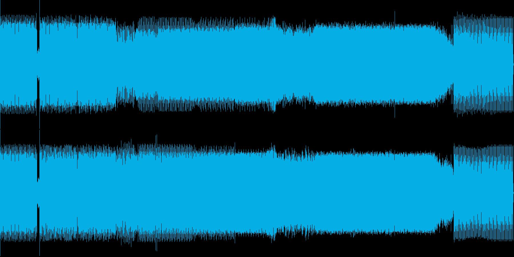 ゲーム映像/切出してCMにも使えるテクノの再生済みの波形