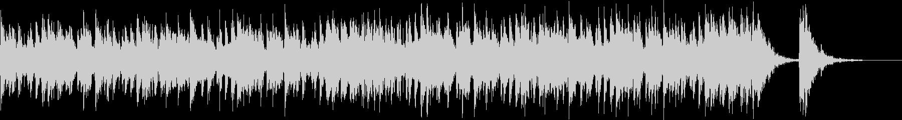 アップテンポ渋く激しい和太鼓+三味線-2の未再生の波形