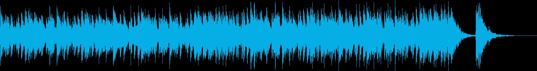 アップテンポ渋く激しい和太鼓+三味線-2の再生済みの波形