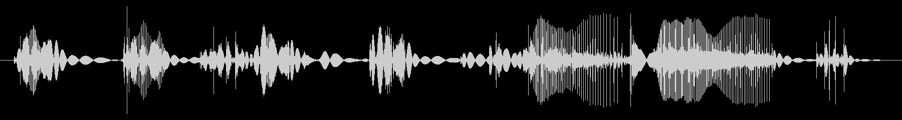 ビニールレコードターンテーブルプレ...の未再生の波形