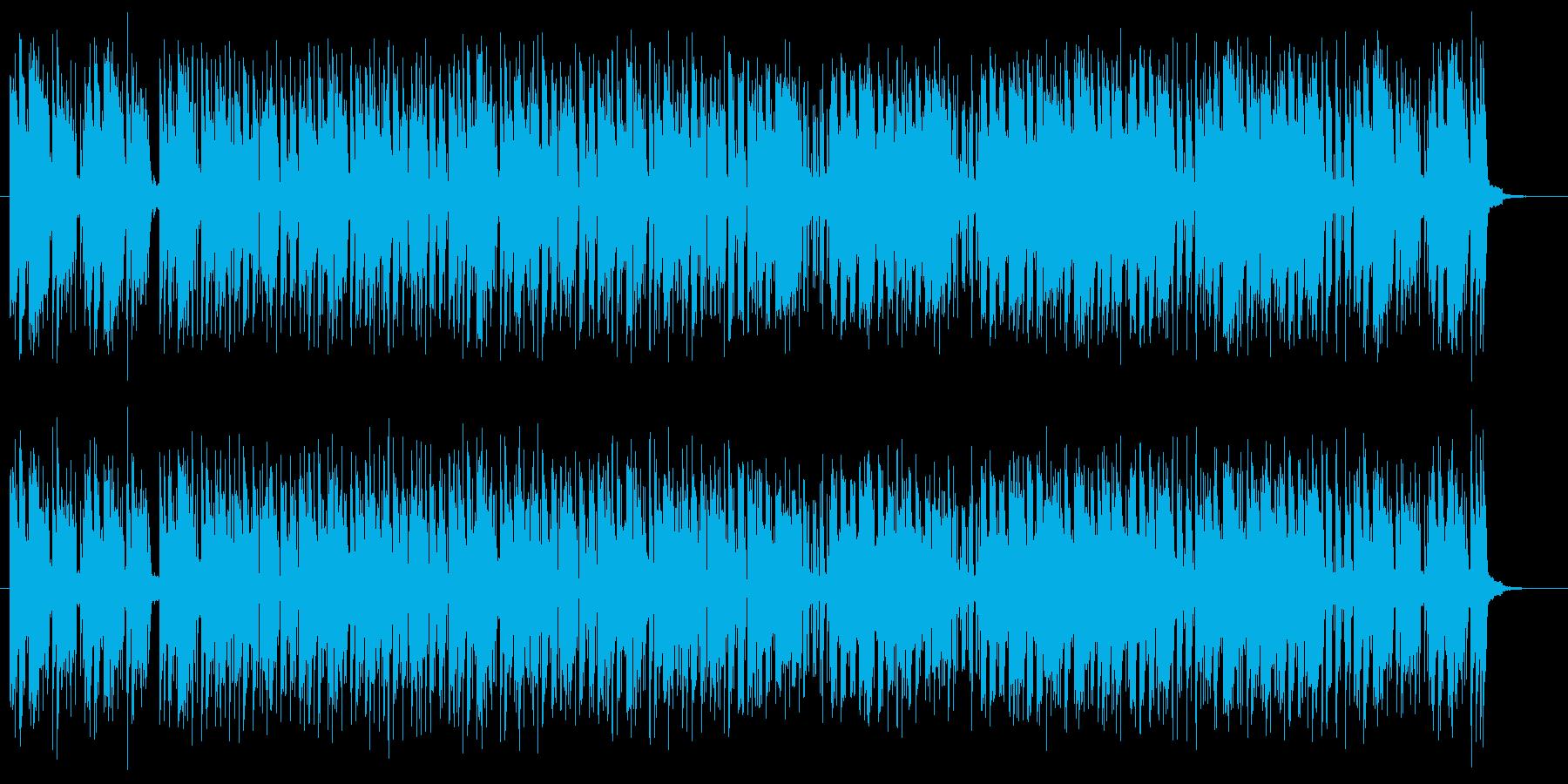 ポップでミディアムテンポなシンセサウンドの再生済みの波形