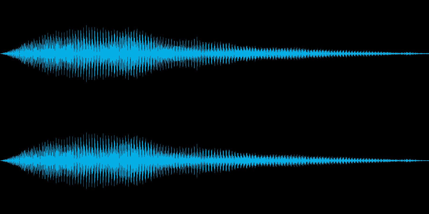 猫の鳴き声 にゃん! の再生済みの波形