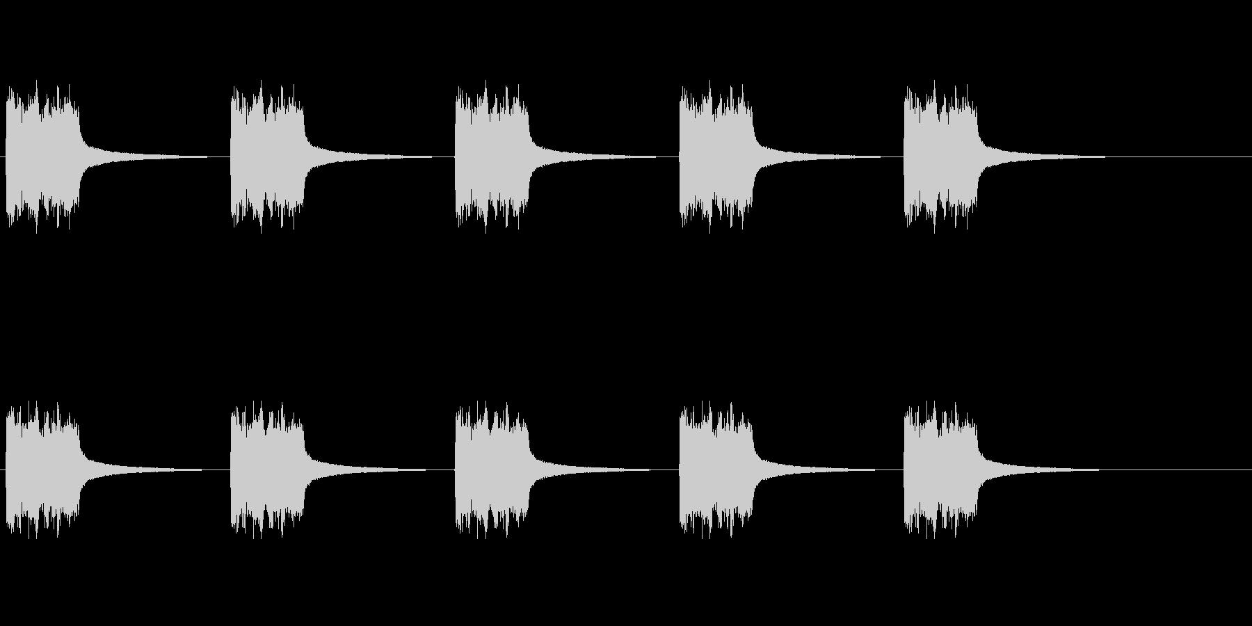 電話リング、ベル型デスクフォン2。の未再生の波形