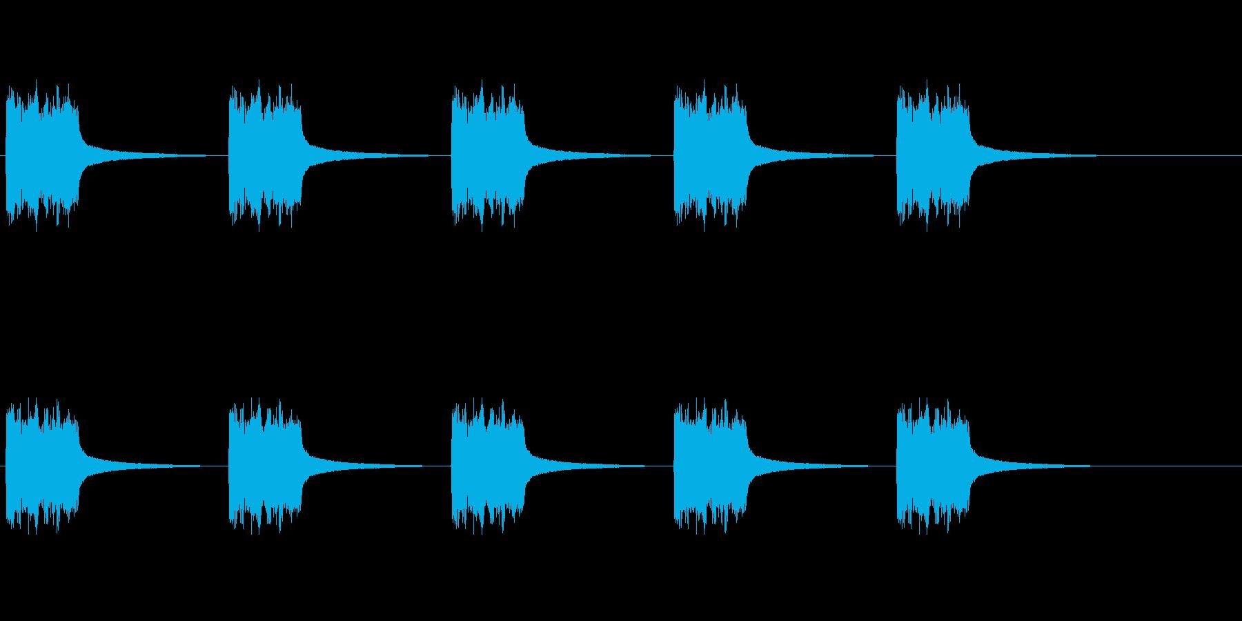 電話リング、ベル型デスクフォン2。の再生済みの波形