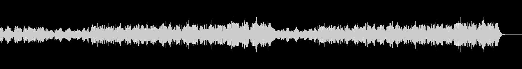 打楽器とフルート、オーボエの軽快なBGMの未再生の波形
