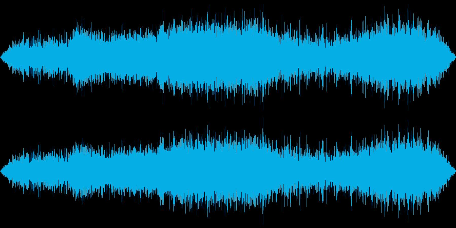 東京地下鉄の環境音(生録音)の再生済みの波形