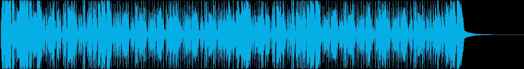 リズミカルなファンク おしゃれ ブラス の再生済みの波形
