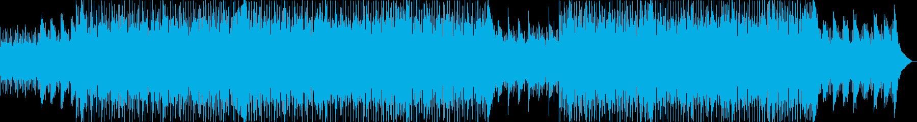 ギターのハーモニクス、シンセサイザ...の再生済みの波形