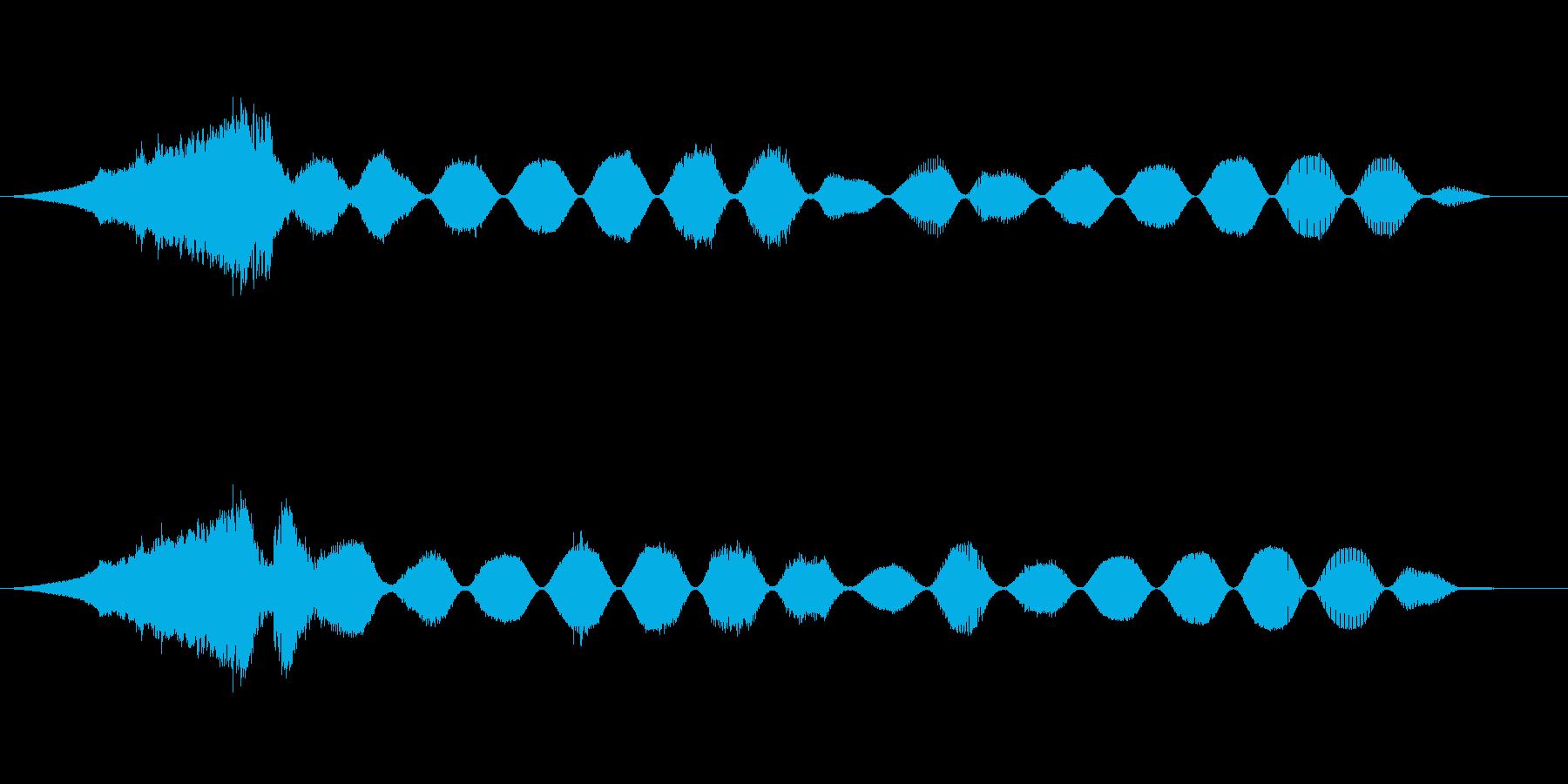 スペースレースの解消の昇順1の再生済みの波形
