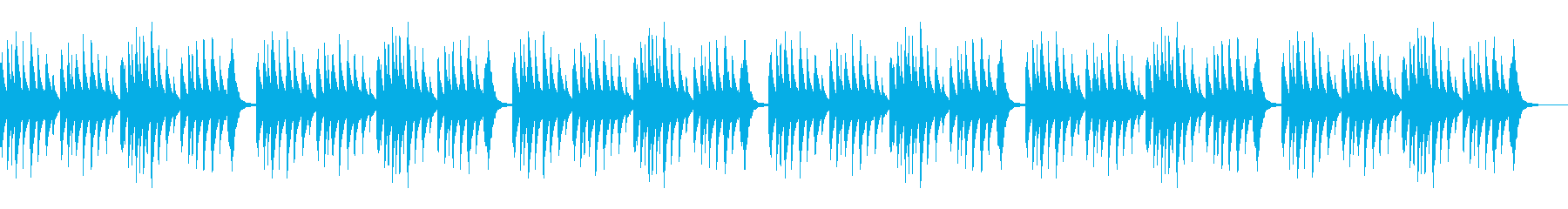 ベビーオルゴール 5 Monkeys×6の再生済みの波形