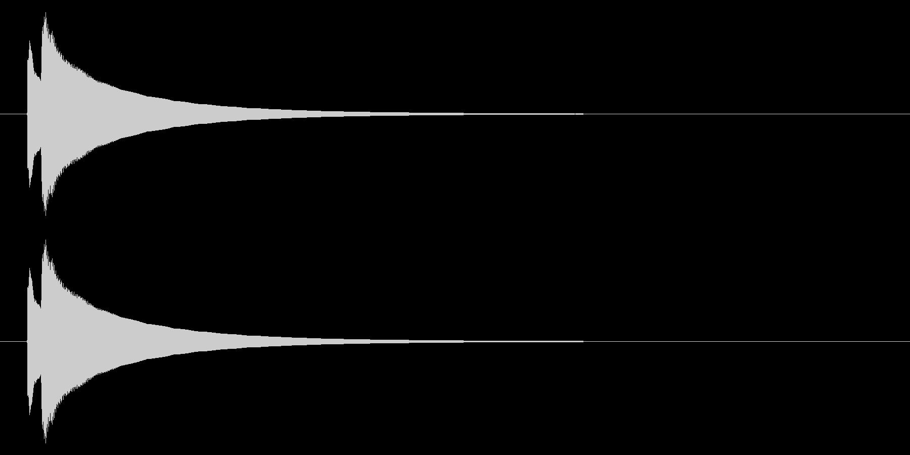 オルゴール01-1(複音)の未再生の波形