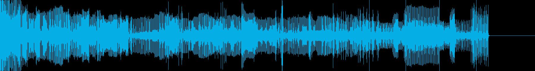 壊れた機械音01の再生済みの波形