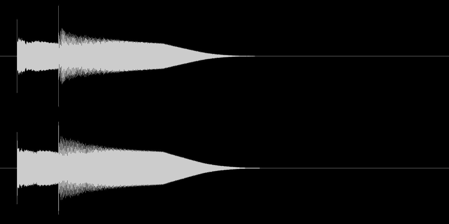 グロッケン系 キャンセル音4(小)の未再生の波形