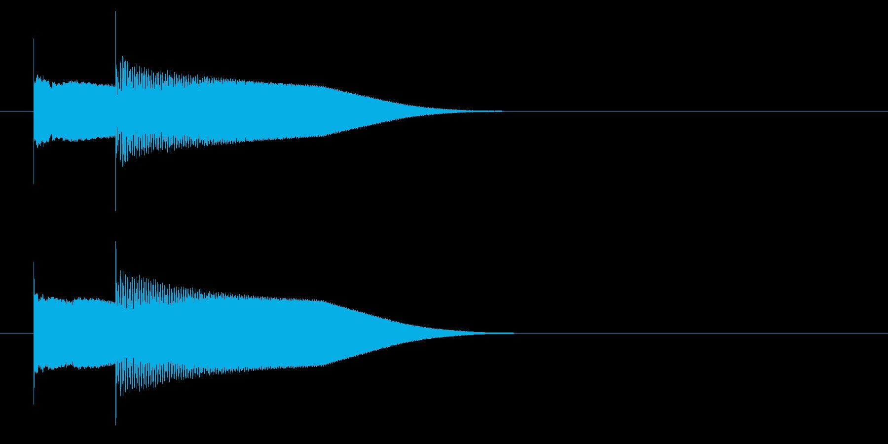 グロッケン系 キャンセル音4(小)の再生済みの波形