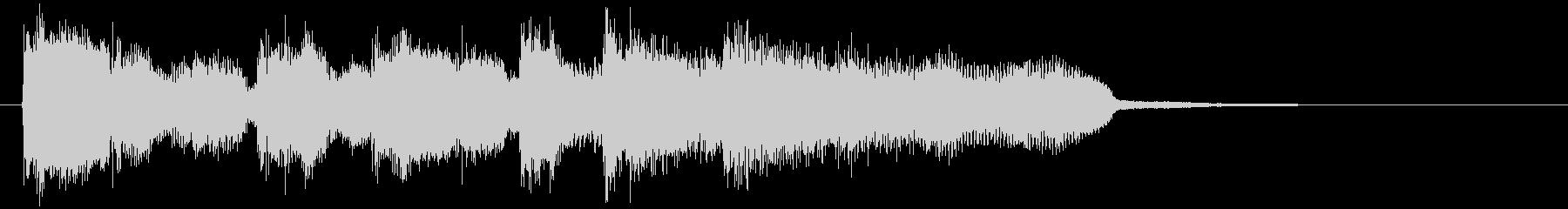 ジャズフルートのスイングするサウンドロゴの未再生の波形