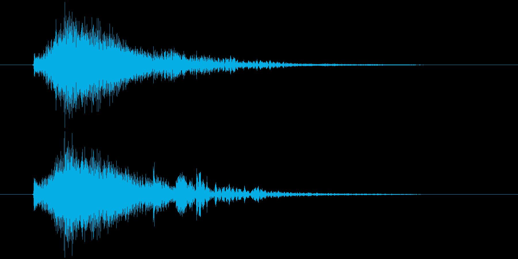 テロップ表示や場面転換に使えるかわいい音の再生済みの波形
