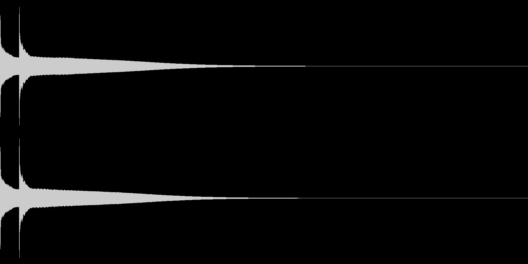 アイテム/コインゲット(音程高め)の未再生の波形
