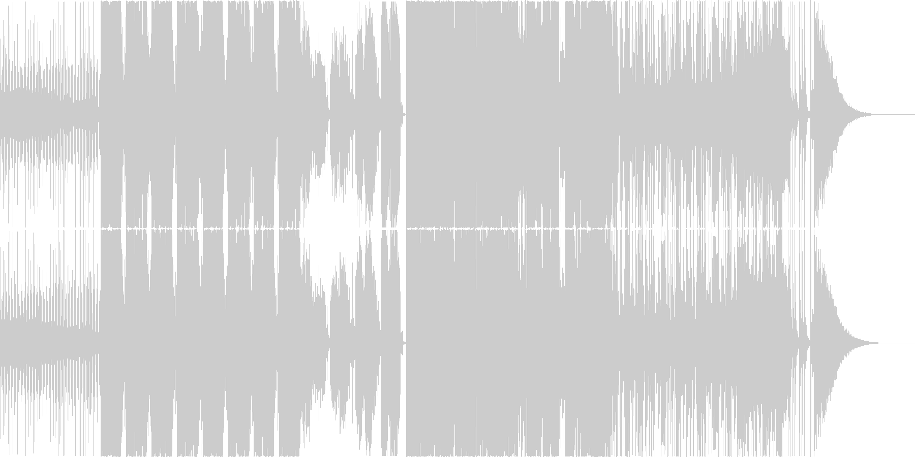EDM、メロディックなダブステップの未再生の波形