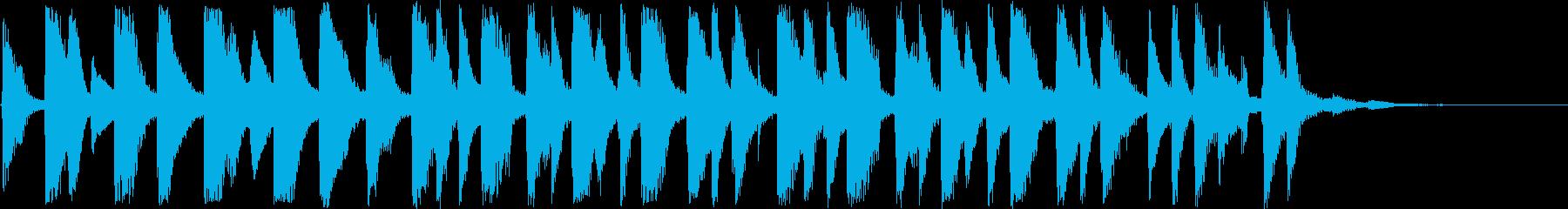 15秒のラテンピアノ。ジングル、CMに!の再生済みの波形