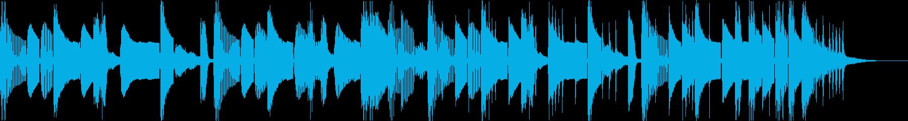 怪しい不気味コミカルなヒップホップeの再生済みの波形