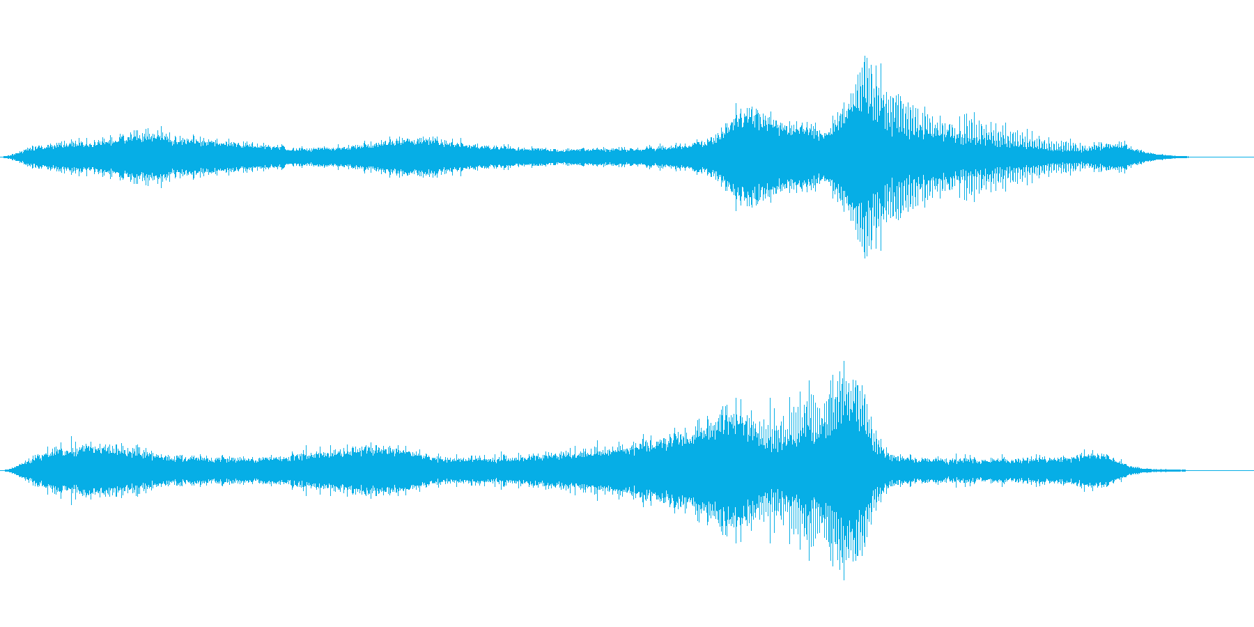 【生録音】 早朝の街 交通 環境音 2の再生済みの波形