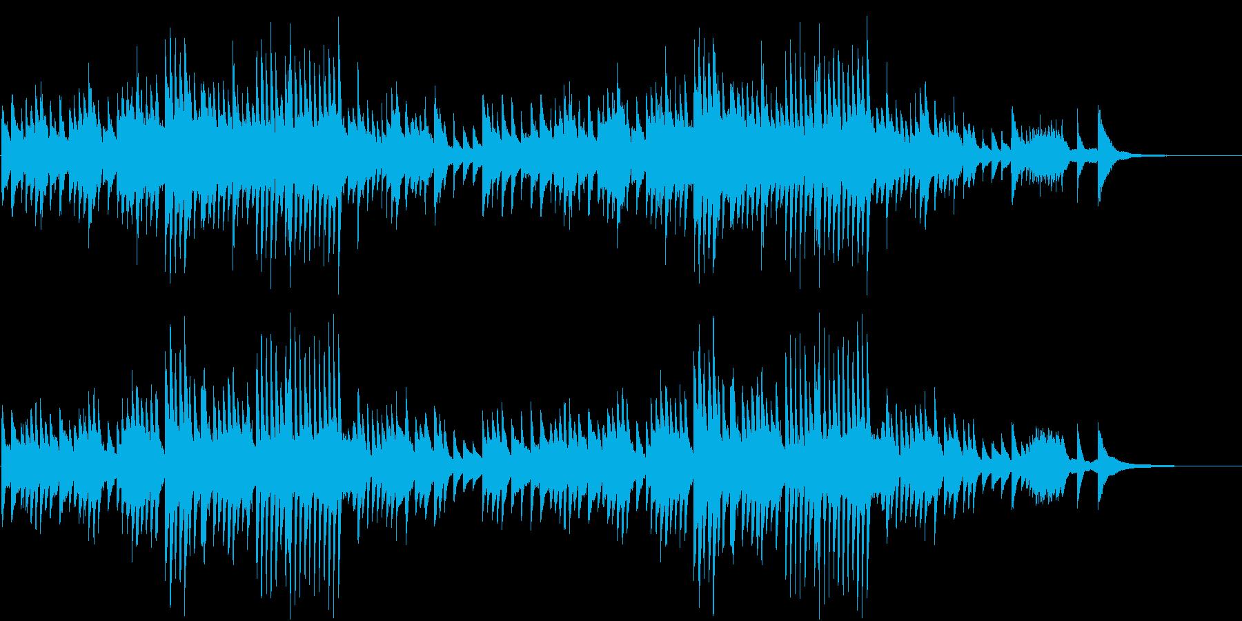 4分5拍子の哀愁ただよう秋ピアノBGMの再生済みの波形