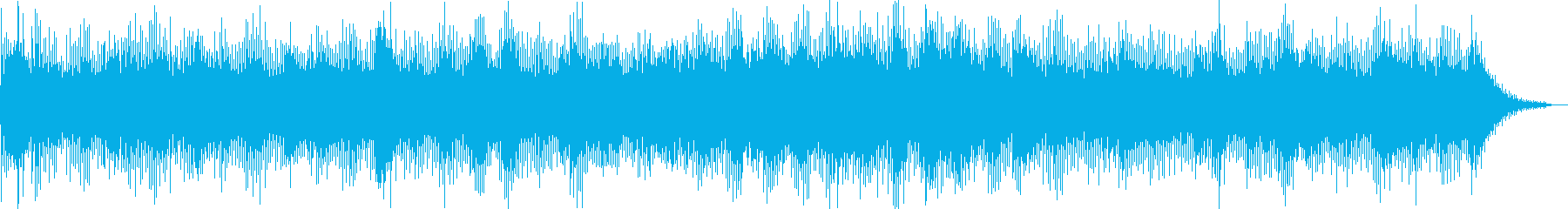 アナログシンセタムのシーケンスフレーズの再生済みの波形