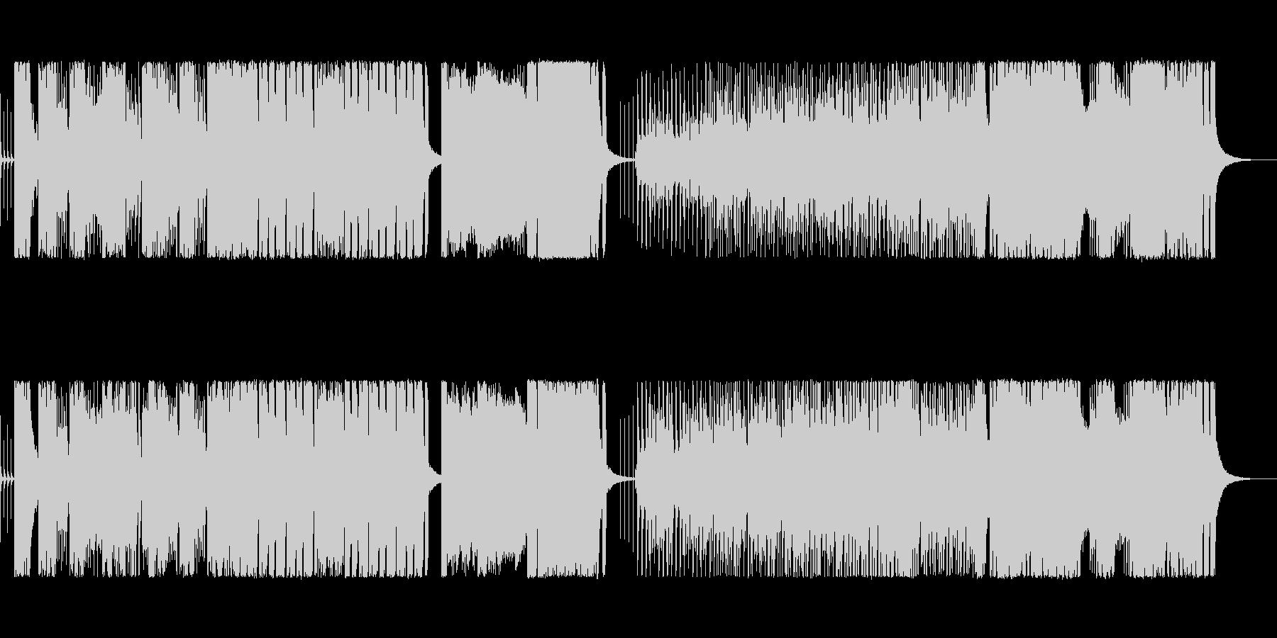 コミカル・にぎやか・テンポの良い転換曲の未再生の波形