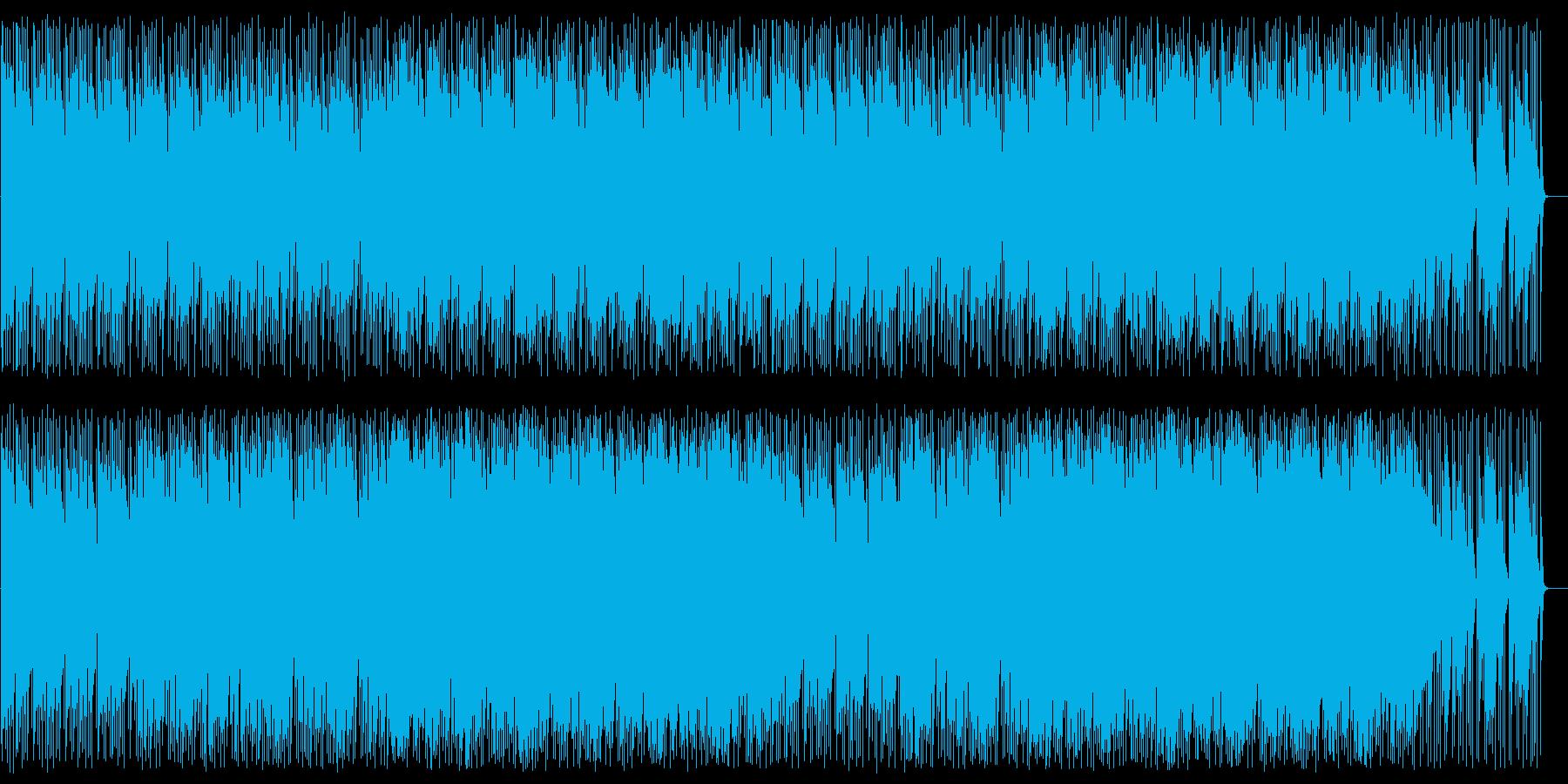 明るいテンポのいいボサノバの曲の再生済みの波形