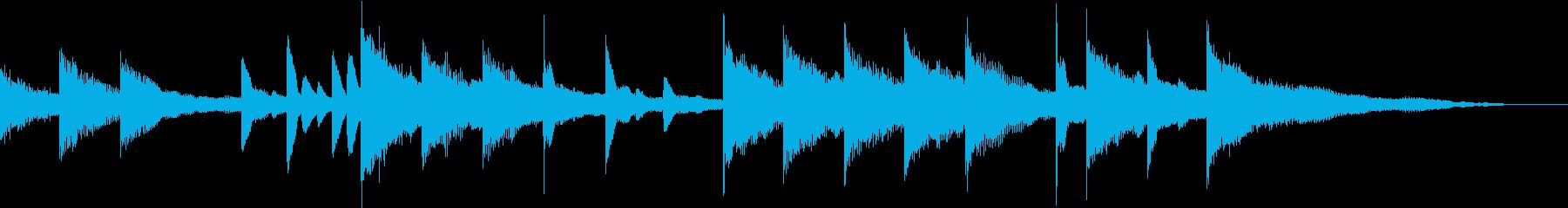 悲しい・荒廃した雰囲気のピアノジングルの再生済みの波形