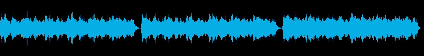 心を落ち着かせてくれる安らぎ音楽の再生済みの波形