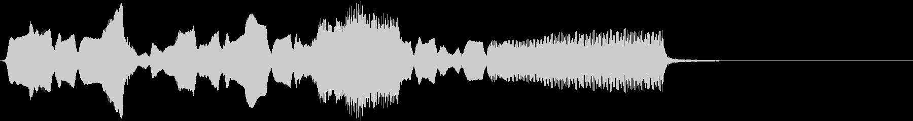 ほのぼのとした雰囲気の音の未再生の波形