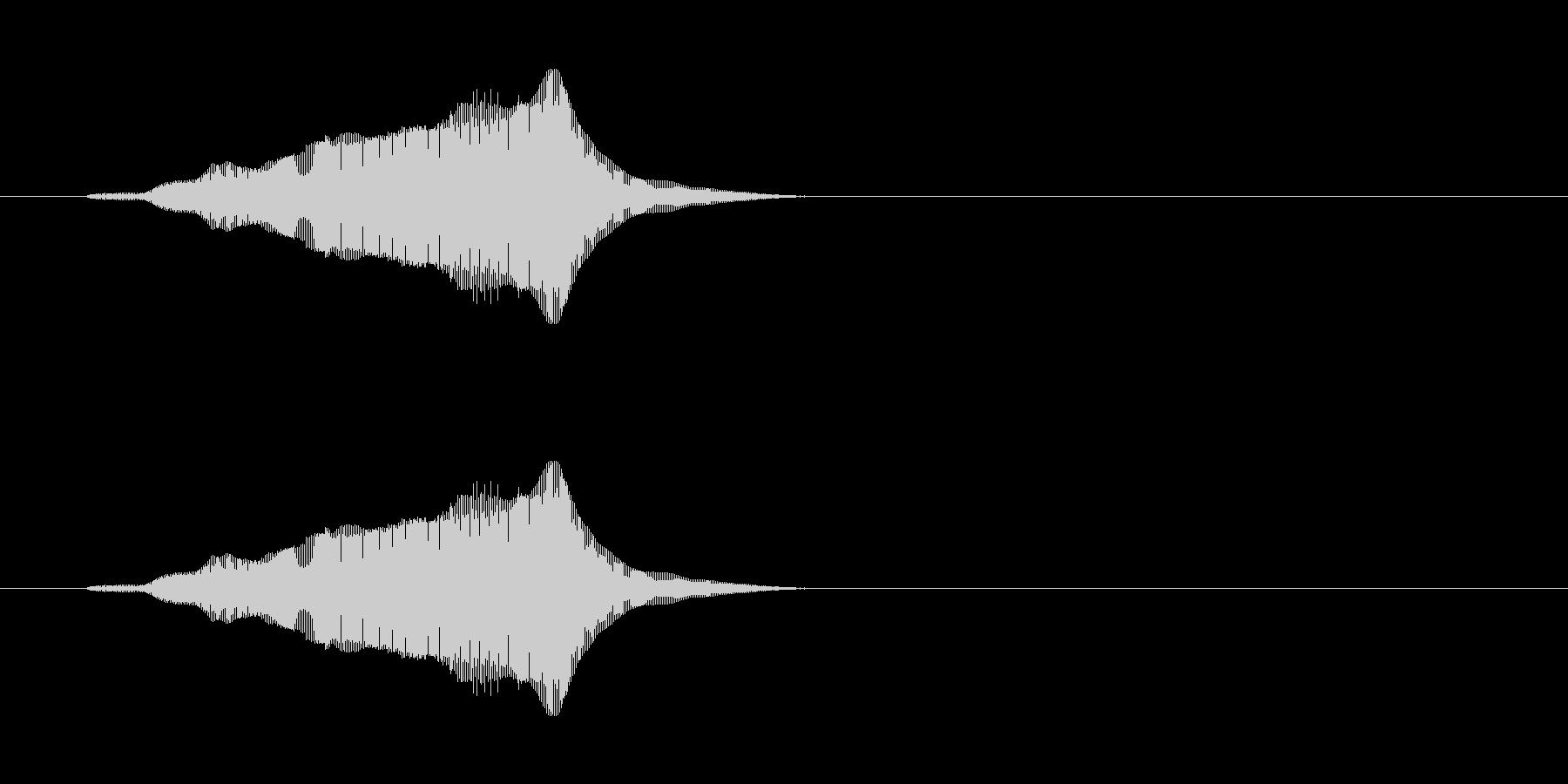 にゃーん(猫の鳴き声)パート06の未再生の波形